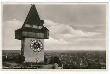 Ältere SW-Ansichtskarte von Graz mit Uhrturm   (920)