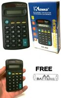 1 PACK ELECTRONIC CALCULATOR PENNINE SMALL DIGIT DISPLAY MINI POCKET SIZE FREE B