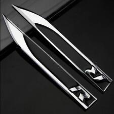 2pcs 3D Metall Auto Fenders Aufkleber Embleme für Knife R R-line Racing schwarz