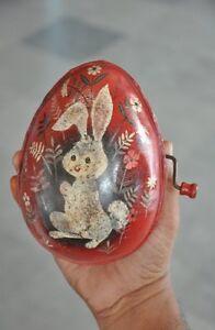 Vintage Mattel Inc.'M' Trademark Oval / Egg Shape Litho Musical Toy, USA