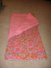 New listing Vintage 1970 Gri Snuggles Mod Pink Flower-Power Sleeping Bag In Matching Bag