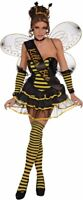 Killer Bee Queen Honey Bumble Sash Womens Adult Halloween Costume Accessory NEW