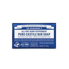 10 X 140g Dr Bronners Magic Soaps Pure Castile Bar Soap - Hemp Peppermint