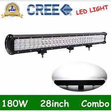 "180W 28"" inch LED WORK LIGHT FLOOD SPOT COMBO OFFROAD 4WD SUV Driving 12V24V ATV"