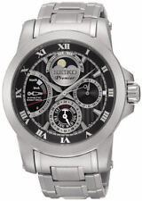 Seiko Premier Stainless Steel Chronograph 100m Kinetic 40mm Watch SRX013P1 $1000