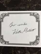 Kate Millett,  Author Signed Bookplate