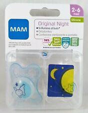 MAM Original NIGHT n°2 Succhietti mesi 2-6 ciucci azzurro luna illumina al buio