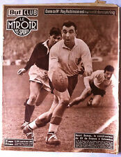Miroir des Sports 10/01/1955; Ray Robinson/ Henri Domec/ France-Ecosse Rugby