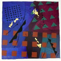 "Frank Rowland Mixed Collage Media Art 24"" x 24"" Signed Original Artwork Lot #4"