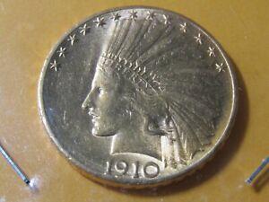 1910-D $10 Indian Head Eagle No Reserve - BU