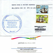 NEW ZEALAND RESEARCH SHIP MV RAPUHIA A SHIPS CACHED COVER & BUSINESS CARD