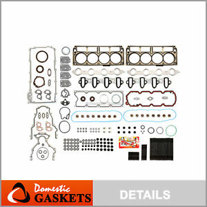 Full Gasket Set Head Studs Fit 02-04 Chevrolet Cadillac GMC Buick 4.8 & 5.3 OHV