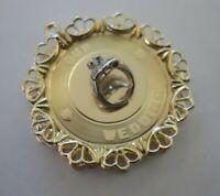 RARE LARGE Vintage 14k OUR WEDDING W/ WEDDING RINGS Bracelet Charm 6.8 G #20036K