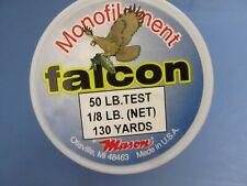 1 spool Falcon Monofilament Fishing Line 50 Lb. Test 130 yard Spools New