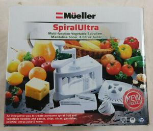 New Mueller Spiral-Ultra Vegetable Spiralizer, Mandoline Slicer, Citrus Juicer