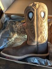 Twisted X Mens Hazel Leather ST PullOn Lite Weight Cowboy Work Boots. Size 10D