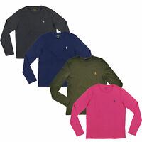 Polo Ralph Lauren Womens Long Sleeve Jersey T-shirt Crew Neck Tee S L Xl New Nwt