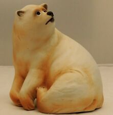 Cacciapuoti Polar Bear Porcelain Figurine  SIGNED AND PAPER LABEL ITALY