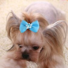 10 Pcs Pet Dog Hair Band Bow Knot Grooming Headdress Cat Decoration Accessories