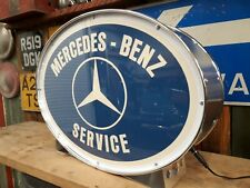 Mercedes,Benz,classic,vintage,classic,mancave,lightup,sign,garage,workshop,old