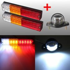 2x 12V LED Trailer Truck Stop Rear Tail Reverse Indicator & License Plate Light