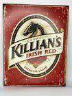 "Killian's Irish Red Beer Metal Lithographed Retro Metal Sign 16""x12.5"""
