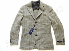 New Ralph Lauren Polo Italy Wool Blend Gray Herringbone Sport Coat Jacket 42 R