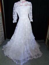(62)Edles Damen Braut Standesamt Abend Kleid GR: 40