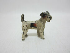 Antique Vienna Bronze Dog Wire Fox Terrier Signed Austria Miniature
