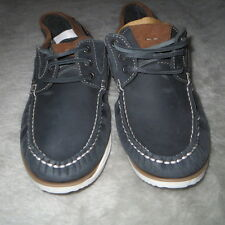 OnFire Blue Boat Shoes NUBUCK Leather Deck Shoes Size 9