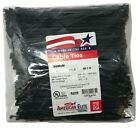 """1000 Black 6"""" Inch Nylon Cable Wire Wrap Zip Ties 18 LBS UV Resistant - USA"""
