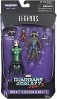 "MARVEL LEGENDS ACTION FIGURES 6"" GUARDIANS OF THE GALAXY ROCKET RACCON AND GROOT"