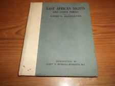 Book. East African Nights And Other Verses. Sophie C. Eliott-Lynn. 1st 1925 HB