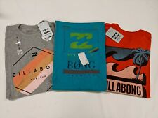 """New, Lot of 3, Billabong,""""Multicolor Collection"""" T-Shirts, Small, Slim Fit"""