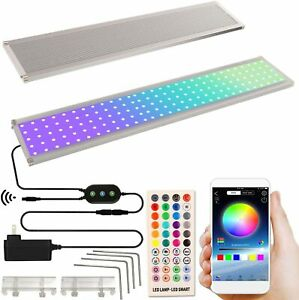 2021 LED Aquarium Light with Timer Bluetooth Remote & Phone APP Color Changing