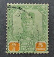 nystamps British Malaya Johore Stamp # 121 Used $53