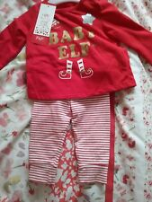 Baby's Elf Outfit,2 piece.. Christmas Fancy Dress. Upto 3months. Bnwt