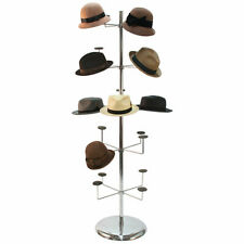 Hat Millinery Round Stand Retail Store Floor Display Rack 5 Levels 20 Caps