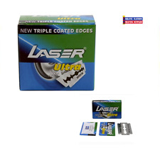 500 X LASER Ultra Double Edge Safety Razor Blades with Triple Coated Edges !