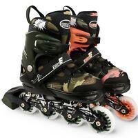 Eliiti Roller Blades Kids Inline Skates for Girls Boys Adjustable Size 13J to 9