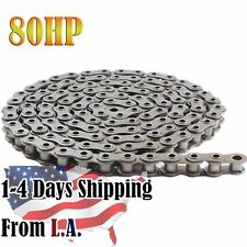 80HP Hollow Pin Roller Chain 10 Feet with 1 Connecting Link