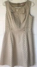 ✔✔✔REVIEW 14 Dress Polka Dot Beige Fit and Flare Corporate Party Belt loops