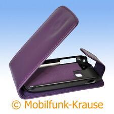 Flip Case Etui Handytasche Tasche Hülle f. Samsung GT-S6310N / S6310N (Violett)