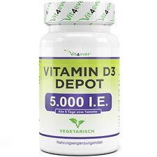 Vitamin D-3 500 Tabletten 5000 IU - D3 Psyche Immunsystem Sonnenschein Vitamin