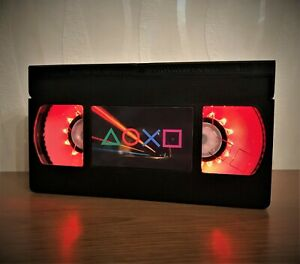 PlayStation Logo VHS Night Light, PlayStation, Computer Game, Desk Lamp, Kids