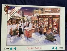 House of Puzzles HOP 1000 Piece Jigsaw Puzzle secret Santa Completed Once
