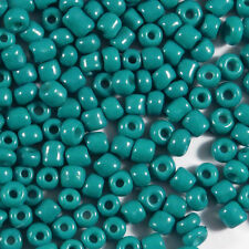 Perles de Rocailles en verre Opaque 2mm Bleu Canard 20g (12/0)