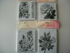 New La Blanche Foam Ink Stamps x4 Floral Flowers Nature 2 Sizes