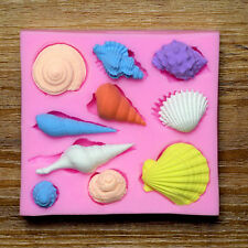 New Marine Animal Shell Silicone Fondant Cake Cookies Mold Mould Sugarcraft Tool