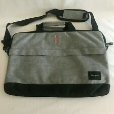 Targus Black/Gray Lightweight Laptop Computer Shoulder Messenger Bag Orange